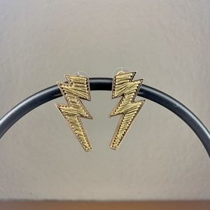 Thread Wrapped Lightning Bolt Earrings